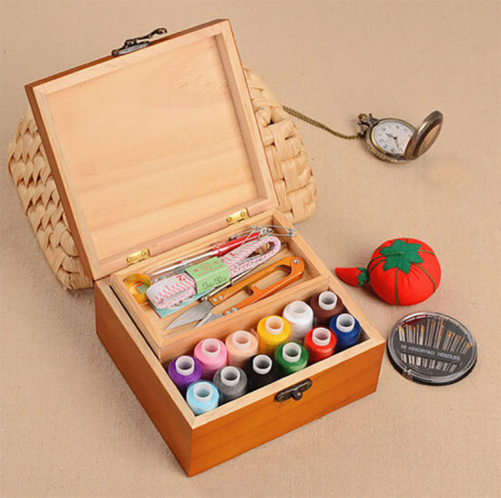 Wood Box of Needle and Thread to Receive pictures & photos