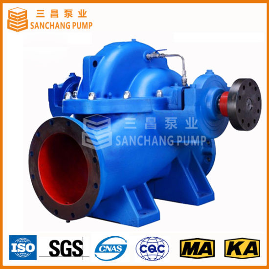 Horizontal Split Case Double Suction Water Drainage Centrifugal Pump pictures & photos