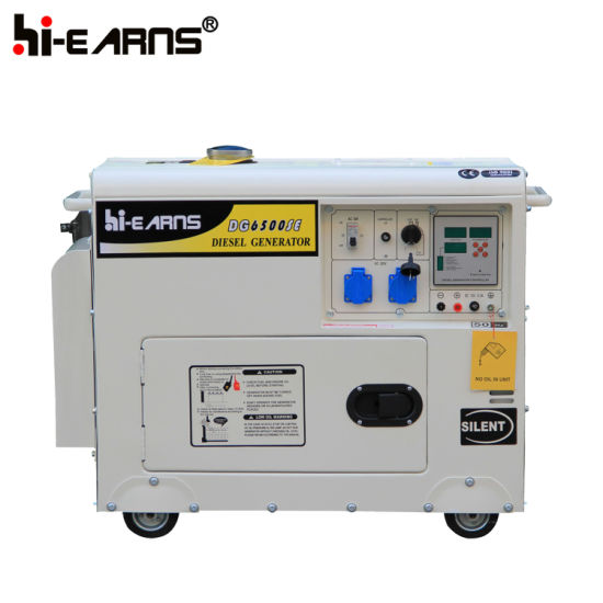 5kw Silent Diesel Generator Portable Model (DG6500SE) pictures & photos