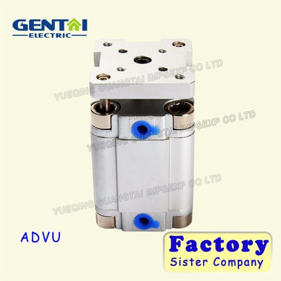 Double Acting Cylinders Advu Compact Mini Pneumatic Air Cylinder