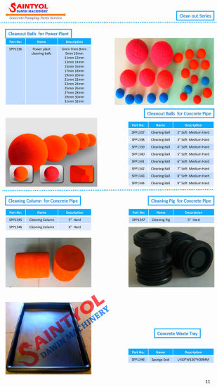 Concrete Pumps Pipe Cleaning Soft Sponge Ball