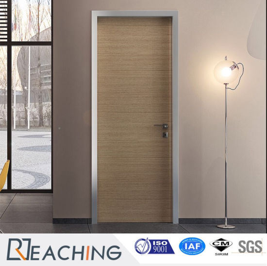 Modern PVC Laminated Wood Grain Wooden Door Water Proof