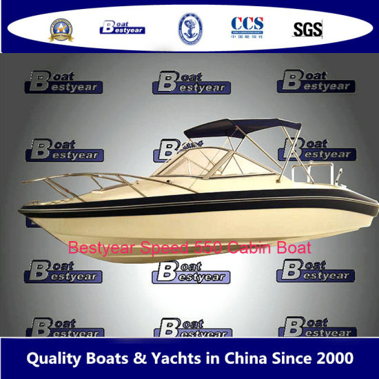 Bestyear 5.5m Fiberglass Speed Boat for Fishing or Working with Cabin pictures & photos