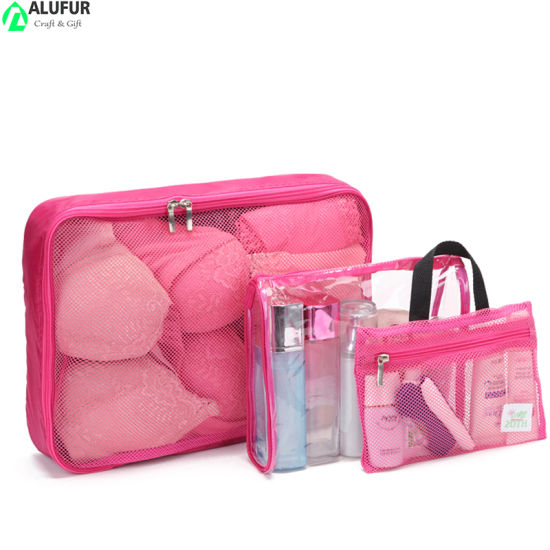 Luggage Organizers 3 Set Cosmetic Bag with Clear Toiletry Kits Bag