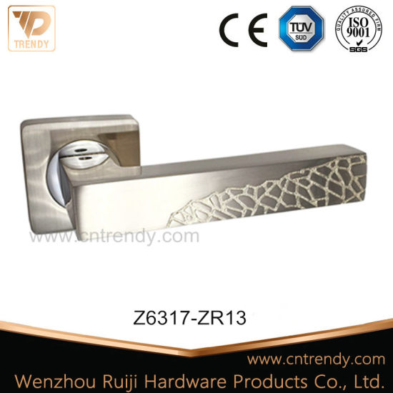 White Ceramic Door Lever Handle with Big Round Butt (Z6363-ZR05) pictures & photos