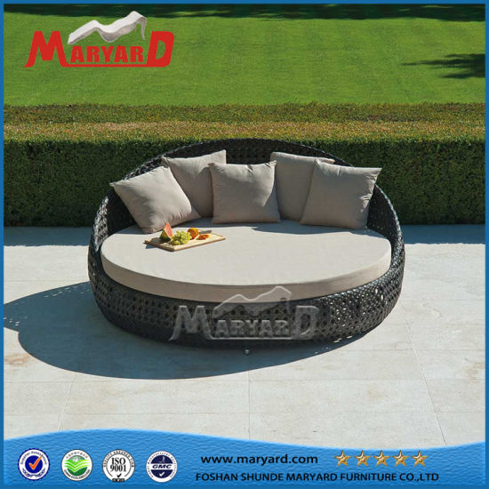 China Factory OEM Modern Synthetic Rattan Outdoor Sofa Daybed
