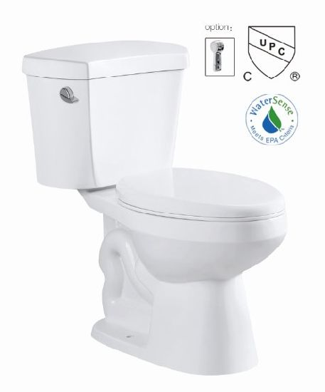 Cupc Bathroom Siphon Two Piece S-Trap 300mm Ceramic Toilet