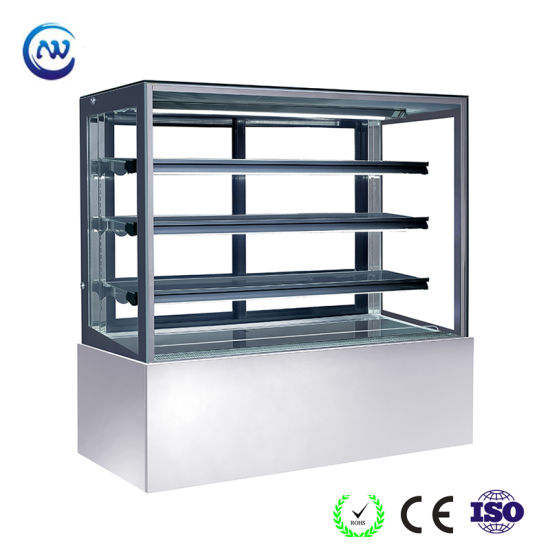 Commercial Wholesale Stainless Steel Table Top Cake Refrigerator Showcase (ST770V-S)