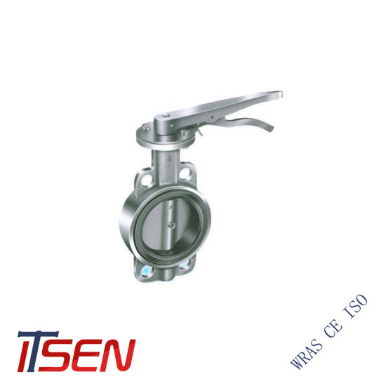 Cast SS304/SS316 Wafer Type Butterfly Valve with EPDM Coat