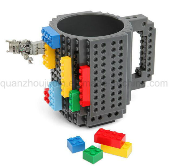 DIY Plastic Creative Building Block Brick Cup Mug