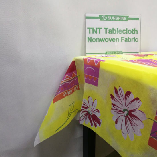 Factory Supply High Quality PP Nonwoven Fabric for TNT Tablecolth pictures & photos