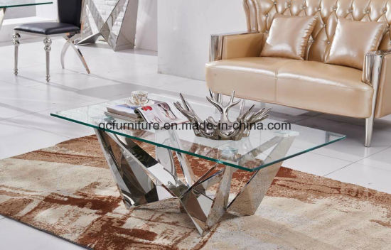 China Living Room Glass Top Skorpio Center Table Design - China ...