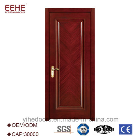 China Mat Finished Solid Wooden Door Exterior Wooden Doors With Wood