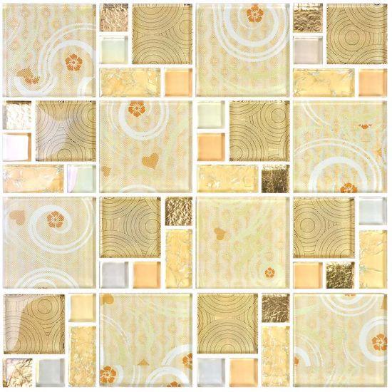 China 2018 New Design Crystal Glass Mosaic Flooring Tiles Price