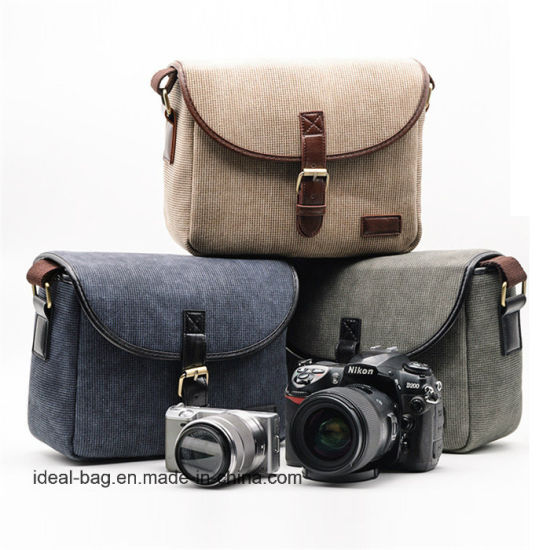 Promotion Canvas Sling Bag Digital SLR Shoulder Camera Bag