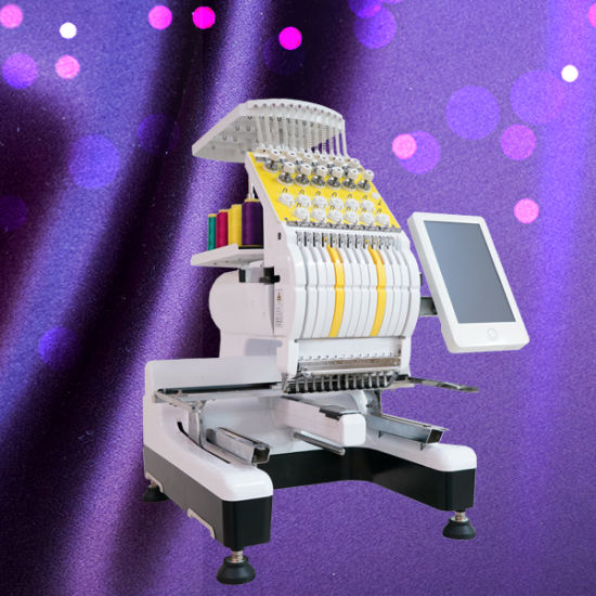 Single Head Flat and Cap Embroidery Machine with 12 Needle