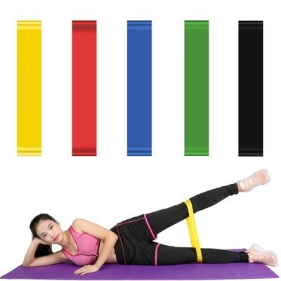 5 PCS Silicone Gym/Yoga Fitness Home Workout Health Resistant Bands