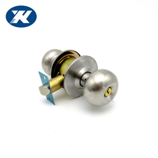 Stainless Steel Security Cylindrical Door Knob Lock with Press Button