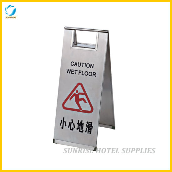 Hotel Foldable Stainless Steel Wet Floor Signs
