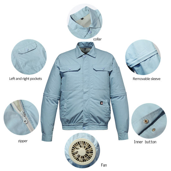 SAVIOR Battery Fans Air-Conditioning Clothes Jackets for Summer Use