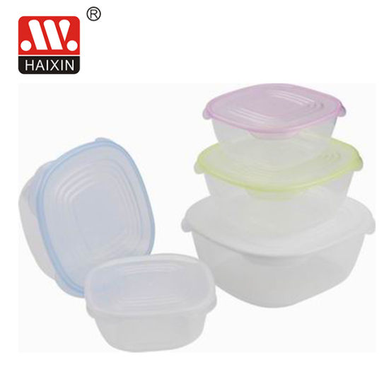 Microwavable Square Clear Recycled Safe Plastic Fruit Kitchen Food Container