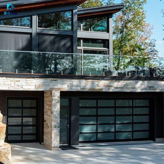 China Customized Modern Remote Control Home Waterproof Rolling Up Steel Panel Carport Garage Door China Single Glass Door Automatic Door