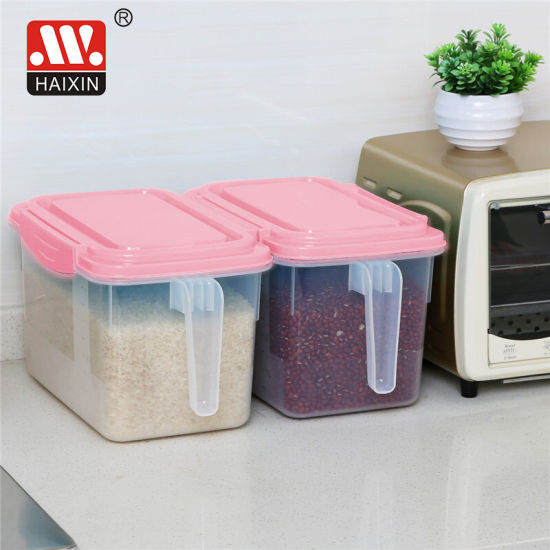 Plastic Freezer Handled Food Containers with Removable Drain Plate and Lid