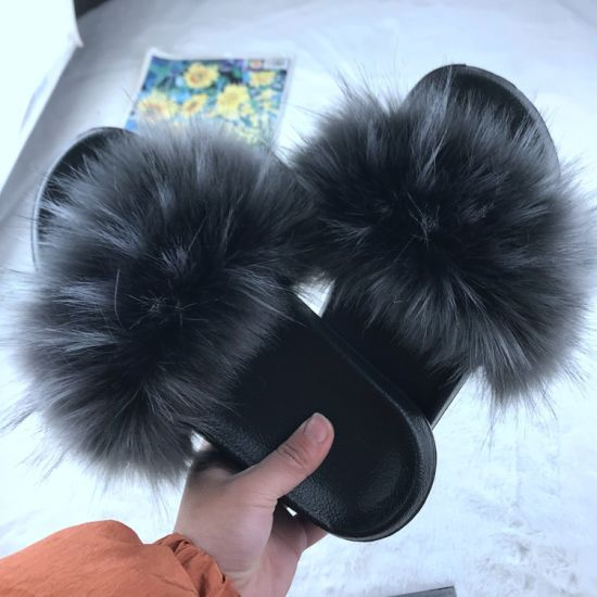 Latest Slippers, High Heel Fur Slippers, Wholesale Fluffy Slippers pictures & photos