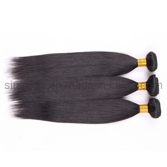 Sun Nature 2020 Custom Service Remy Hair Machine Double Weft Silky Virgin Bundle Hair pictures & photos