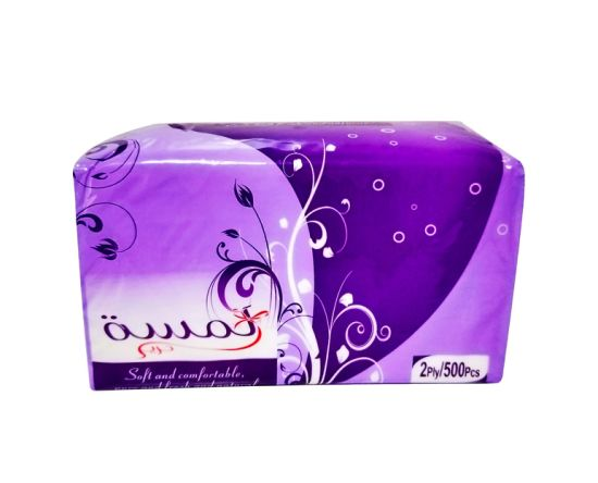 Customized Logo Noble Purple Factory Price 2/3ply High Quality Facial Tissue Paper for Household/Hotel