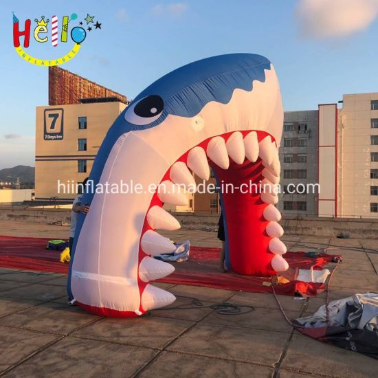 Cheap Inflatable Shark Mouth Welcoming Arch Gate