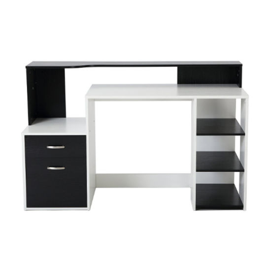 Home Office Writing Workstation Furniture Desk with Drawer and Shelves pictures & photos