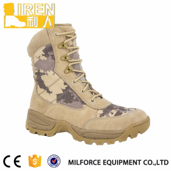 Breathable and Durable Suede Cow Leather Hot Sale Military Tactical Desert Boot pictures & photos