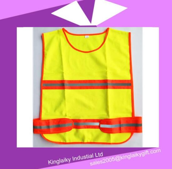 Traffic Vest with Reflective Tape with Logo Branding Ksv017-002