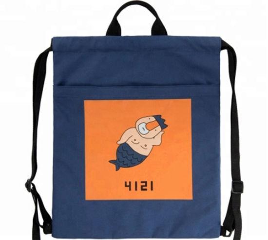 Wholesale Polyester Hiking Sport Drawstring Backpack Bag