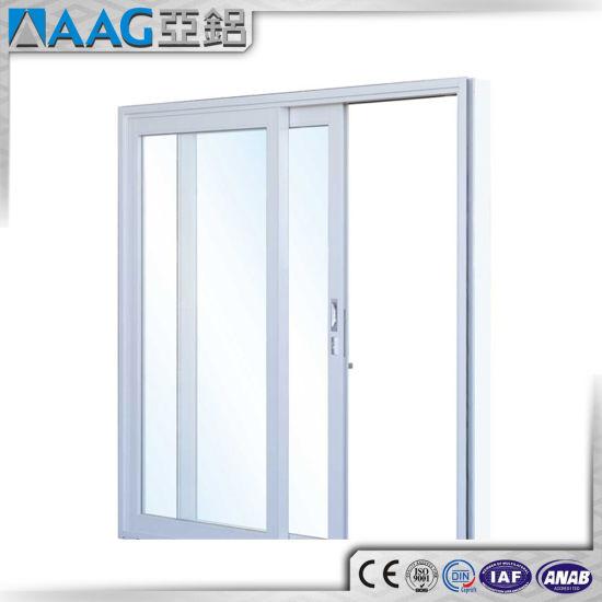 China Modern Design Sound Proof Aluminum Double Glass Sliding Door