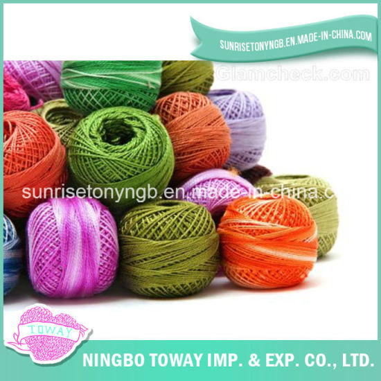 Wholesale Hand Knitting Colorful Soft Thin Acrylic Wool Nylon Fancy Yarn pictures & photos
