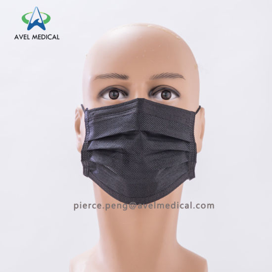 4 Mask Non-woven Surgical With Earloop Carbon Activated Disposable Face Ply