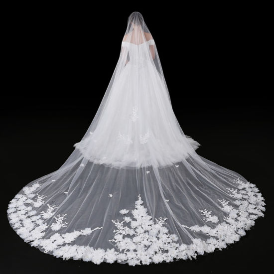 Bridal Wedding Accessories Veil with Flower Ts5516