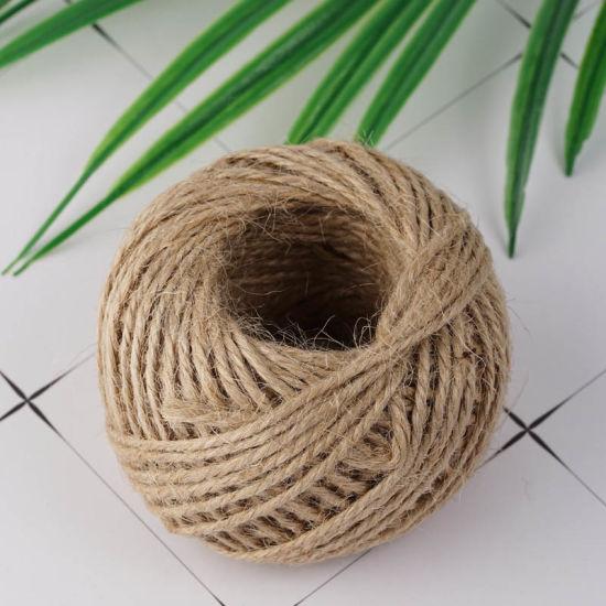 100% Pure Natural Jute Sisal Decorative Packing Twine Rope (JR05)