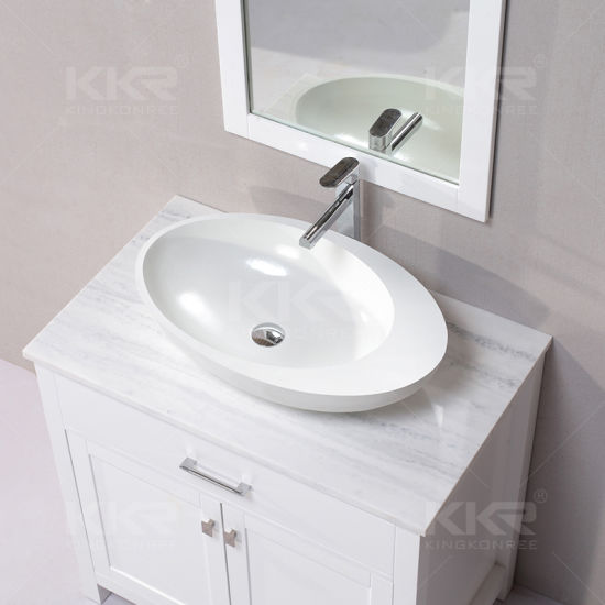 Small Size Oval Shaped Dining Room Vanity Wash Basin