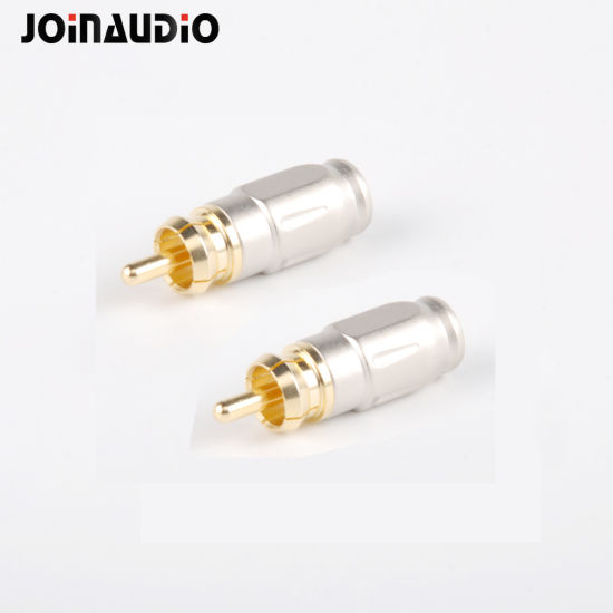 rca male plug connector soldering high end for diy audio cable 7mm (jmzy-fxq