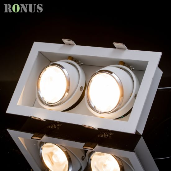 Europe Recessed LED COB Downlight Color Brass Aluminium 5-27W Grille Light Lamp Ceiling Indoor Lighting Spotlight