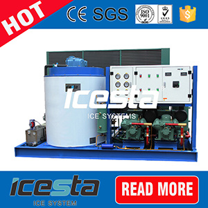 Concrete Ice Cooling System Containerized Ice Machine