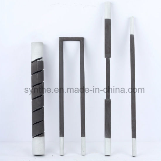 Double Spiral Sic Rod Silicon Carbide Heating Element SCR Type for Hot Sale