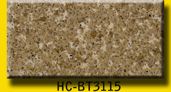 Beige Polished Artificial Quartz Stone for Wall Tiles pictures & photos
