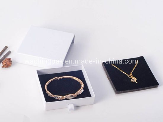 Custom Logo Printing Slider Drawer Jewelry Storage Box Earring Bracelet Necklace Packaging pictures & photos