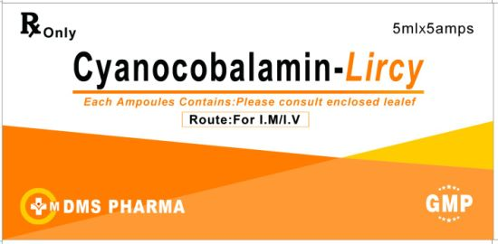Liver Iron and Cyanocobalamin with Procaine Human Medicine for Injection