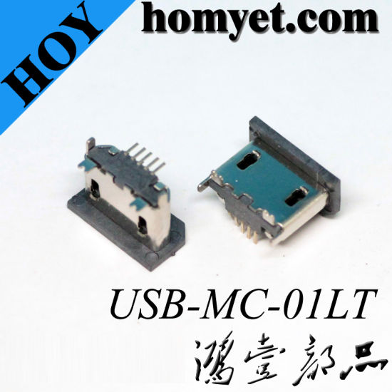 Through Hole Micro USB Female Connector pictures & photos