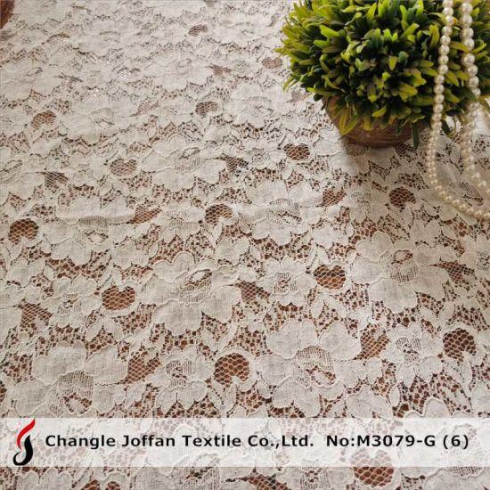 Wedding Dress Fabric Cotton Lace Cord Lace Fabric (M3079-G)
